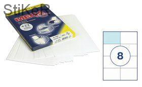 73568 Этикетки самоклеящиеся MEGA LABEL 105х74 мм / 8 шт. на листе А 4 (100 листов в пачке)