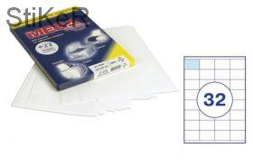 73642 / 640024 Этикетки самоклеящиеся MEGA LABEL 52,5х35 мм / 32 шт. на листе А 4 (100 листов в пачке)