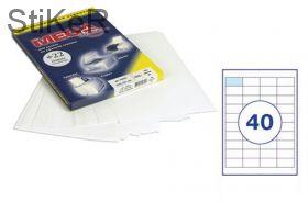 73578 Этикетки самоклеящиеся MEGA LABEL 48,5х25,4 мм / 40 шт. на листе А 4 (100 листов в пачке)