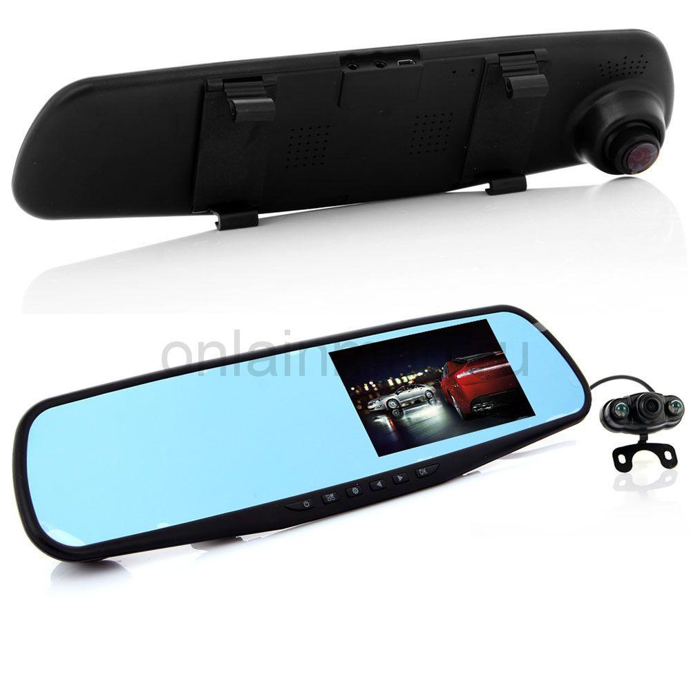 Зеркало-видеорегистратор Vehicle Blackbox DVR, с камерой заднего вида!