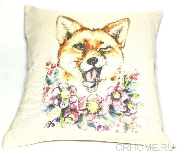 """Декоративная подушка """"Рыжая наглость"""""""