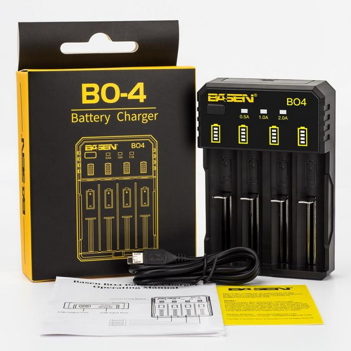 Basen BO4 USB 18650 Зарядное Устройство