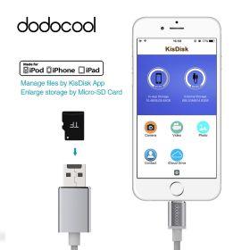 Кабель Lightning/USB с Micro SD слотом для карт, Dodocool (MFi Certified), 15 см