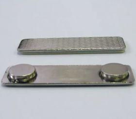 Магнит для бейджика 45х13 мм металлический
