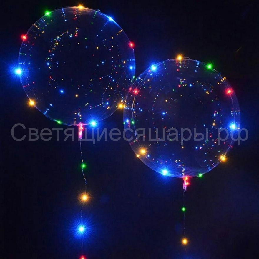 Прозрачная сфера со светодиодной лентой