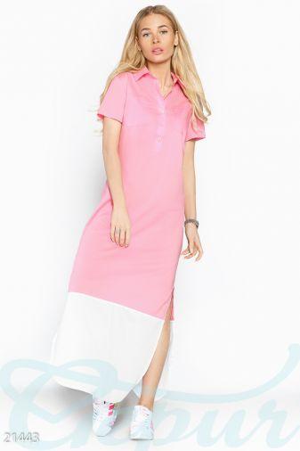 Платье-рубашка макси ( 21443)