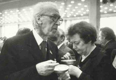 Д.Б. Кабалевский с женой Ларисой Павловной (1980-е г.г.)