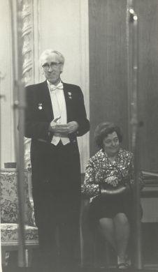 Д.Б. Кабалевский с женой Л.П. Кабалевской (1984г.)