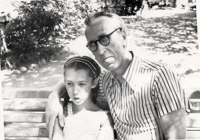 С дочкой Машей (1957/58 г.г.)