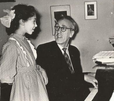 С  дочкой Машей (1956 г.)