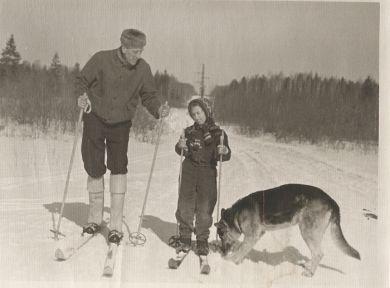 С дочкой Машей (1956/57 г.г.)
