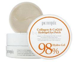 Гидрогелевые патчи с коллагеном и коэнзимом Petitfee Collagen & Co Q10 Hydrogel Eye Patch (набор  из 60 штук).