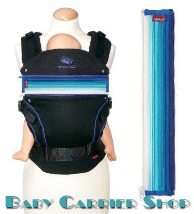 Вставка на молнии в удлинение спинки для слинг-рюкзака MANDUCA Baby And Child Carrier «ZIPIN Blue» [Мандука Синий]
