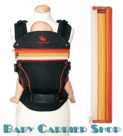 Вставка на молнии в удлинение спинки для слинг-рюкзака MANDUCA Baby And Child Carrier «ZIPIN Orange» [Мандука Оранжевая]