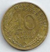 10 сентим. 1977 год.