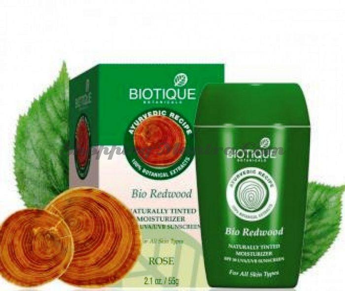 Увлажняющий крем Биотик Красное дерево&Роза SPF 30 (Biotique Bio Redwood Rose Moisturizer)