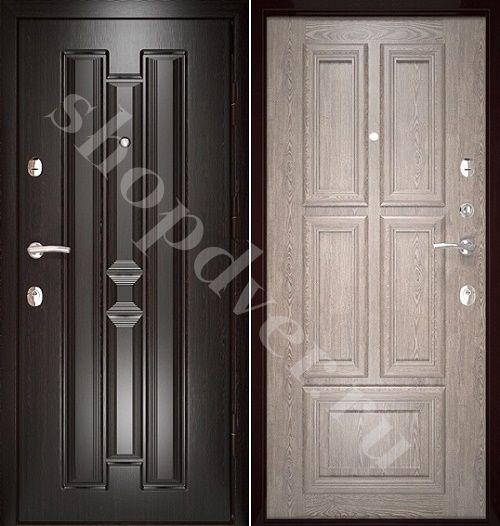 Металлические двери Филенчатый МДФ с 2-х сторон