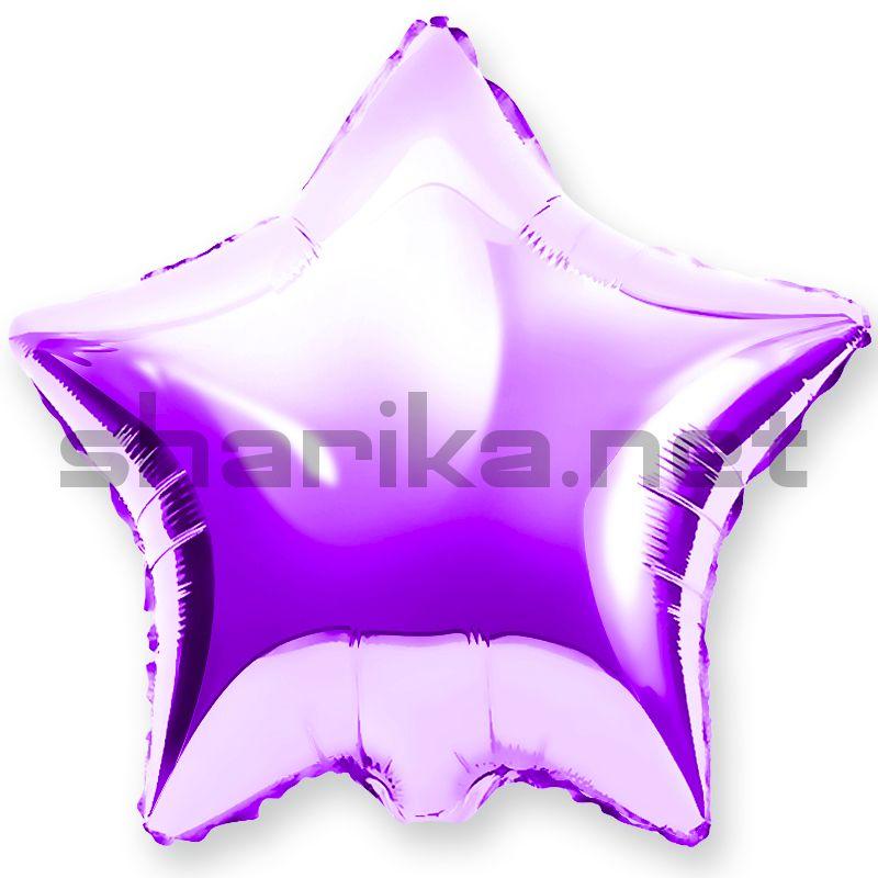 Шар (18''/46 см) Звезда, Фиолетовый