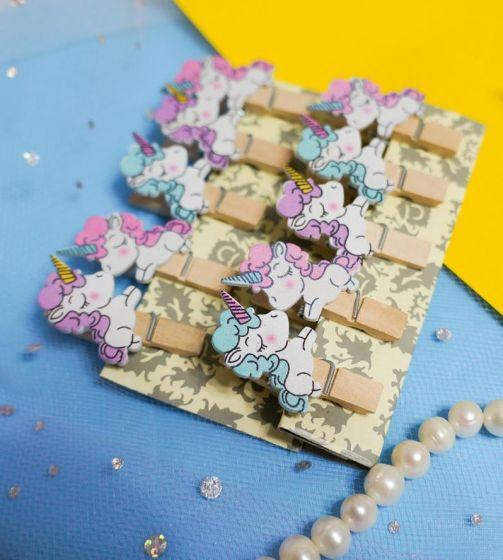 Прищепки декоративные «Влюблённые единорожки»