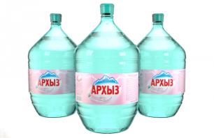 Вода Архыз 3 бутыли по 19 литров, пэт.