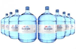 Вода Пилигрим 8 бутылей по 19 литров, пэт.