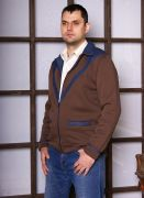 мужская коричневая кофта
