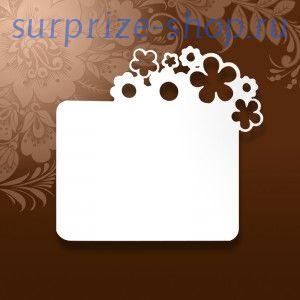 Магнит металлический под сублимацию с Цветочками 76*80мм