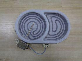 Эл_Конфорка (стеклокерамика) 1800/1000 W,овал, с расшир.зоной EGO 10.77531.004