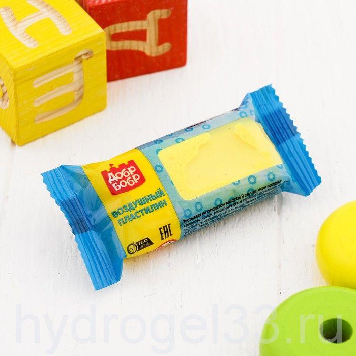 Воздушный  пластилин 45 мл желтый