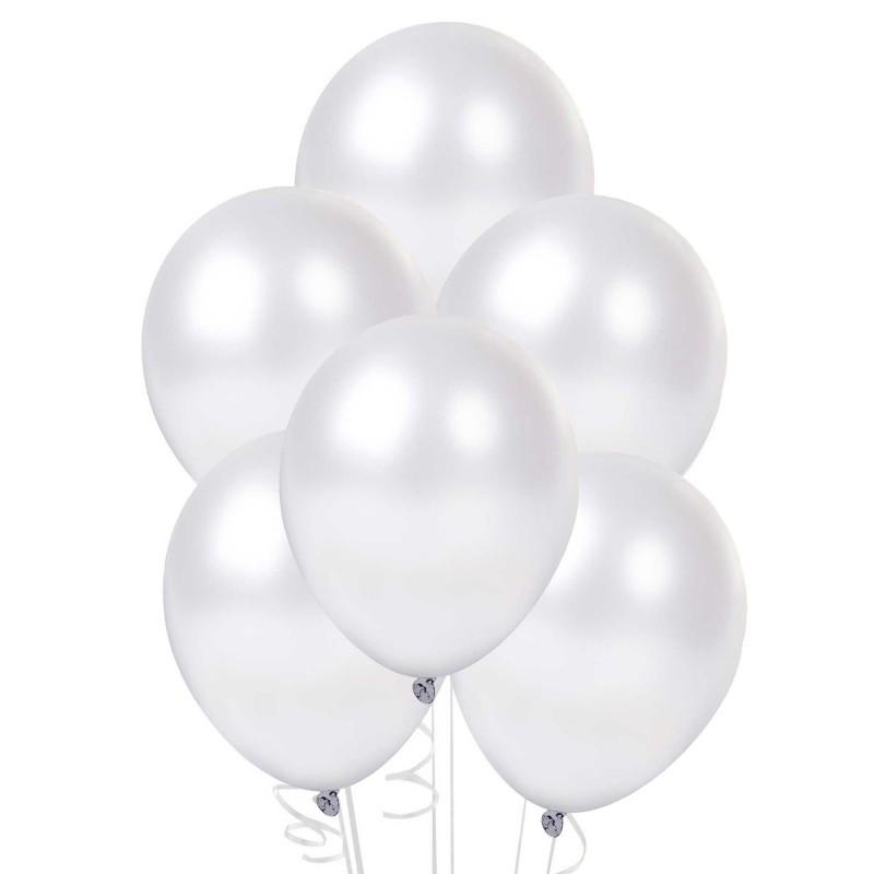 Набор шаров металлик (цвет - white)