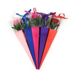 Роза из парфюмированного Мыла в картонной упаковке Beauty Life, 40 см