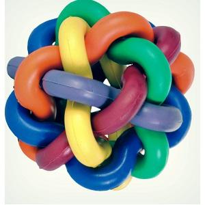 Игрушка для собак узловой мячик с Бубенчиком