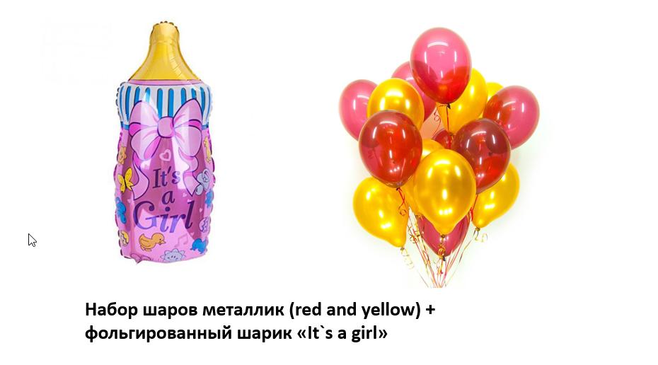 Набор шаров на выписку девочки