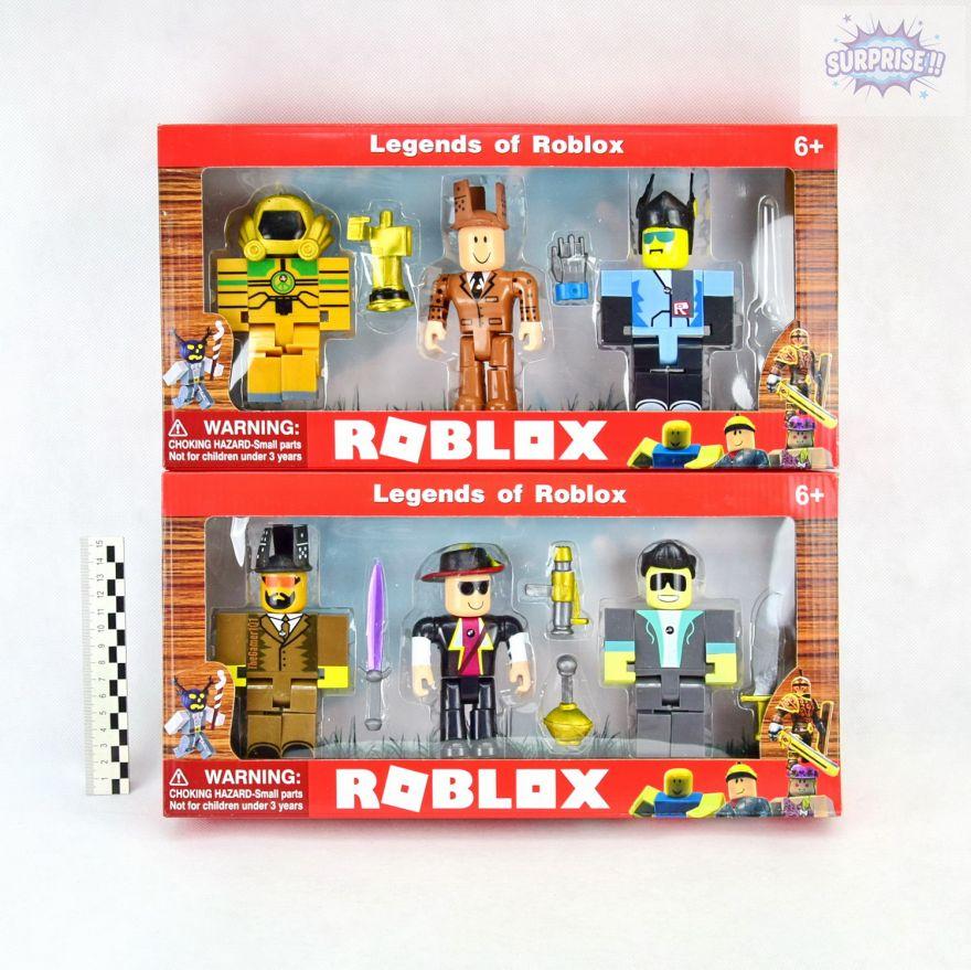 Roblox набор 3 фигурки героев с аксессуарами 12.5см