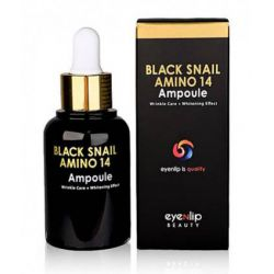 Eyenlip Black Snail Amino 14 Ampoule 30ml - cыворотка для лица ампульная с аминокислотами