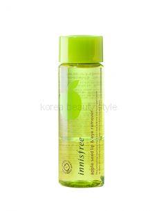 Apple Seed Lip & Eye Remover от  Innisfree (100 мл) - двухфазная жидкость для удаления стойкого макияжа с глаз и губ с маслом семян яблока от Иннисфри