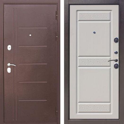 Входная дверь ТРОЯ 10 см (белый ясень)