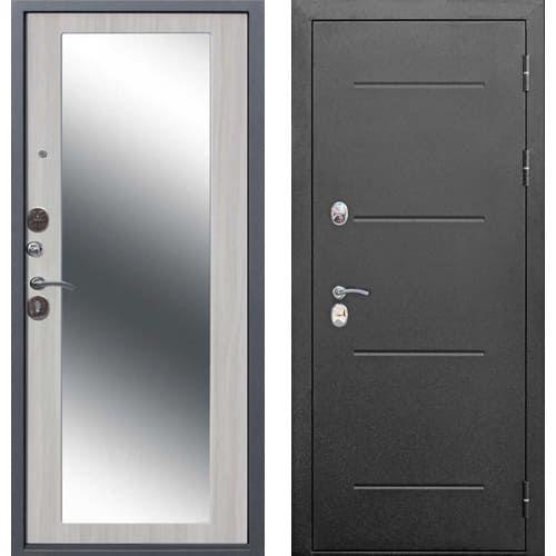 Входная дверь ТРОЯ MAXI 10 см ЗЕРКАЛО (дуб сонома)