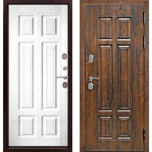 Входная дверь 13 см Isoterma мдф/мдф бел. сосна