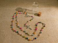 """Миниатюрный розарий из пластиковых разноцветных бусин на металлической основе """"Amazing Grace"""""""