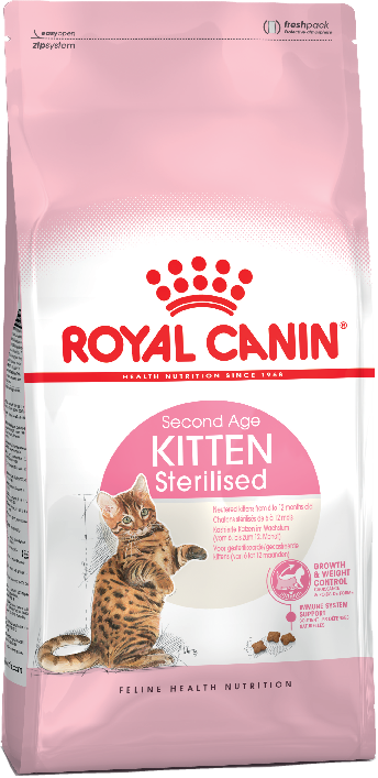 Royal Canin Kitten Sterilised для стерилизованных котят до 12 месяцев 2кг