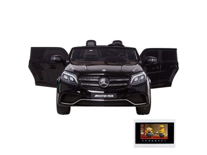 Детский электромобиль Mercedes Benz GLS63 LUXURY 4WD 12V MP4 - Черный