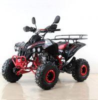 Квадроцикл подростковый бензиновый MOTAX ATV Raptor Lux черно-красный вид 1