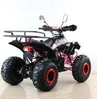 Квадроцикл подростковый бензиновый MOTAX ATV Raptor Lux черно-розовый вид 4