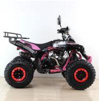Квадроцикл подростковый бензиновый MOTAX ATV Raptor Lux черно-розовый вид 5