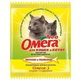 Витамины Омега Neo для кошек и котят с таурином и L-карнитином, 15 таб.