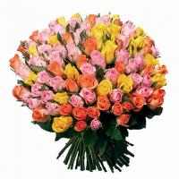 101 роза микс (Кения 35 см)
