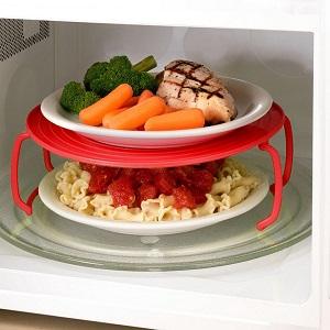 Многофункциональная Подставка для подогрева блюд в микроволновке, 23 см