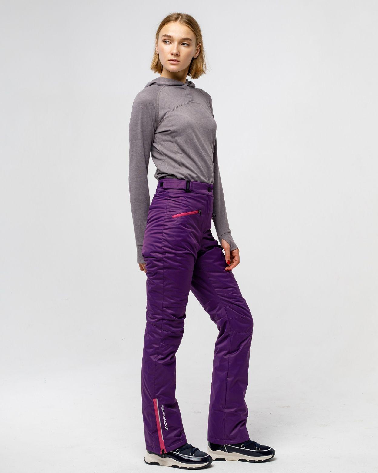 Утепленные женские брюки фиолетово мембрана HEIDEN  вид2