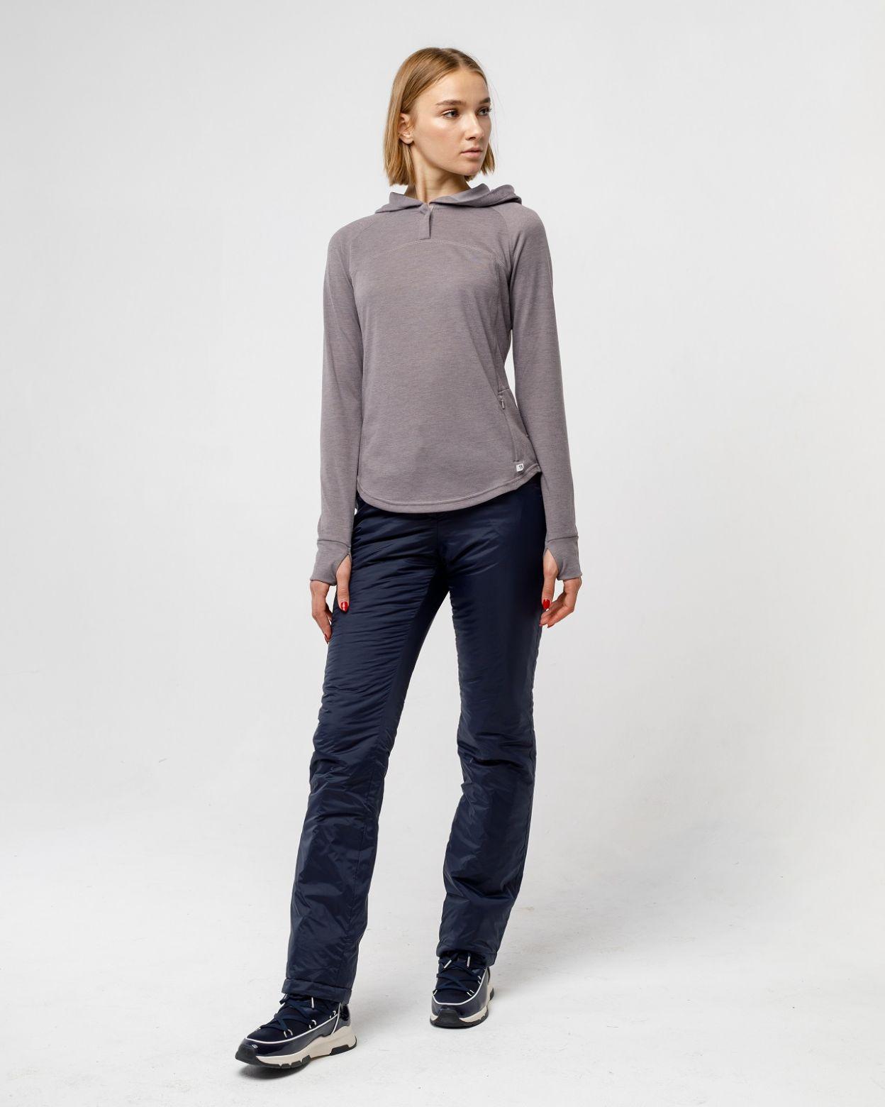Плащевые женские синие брюки HEIDEN  вид2